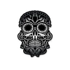 "Sugar Skull Day of the Dead Mexico Vinyl Car Sticker Decal 5"" x 4"""