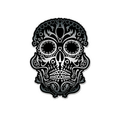 "Sugar Skull Day of the Dead Mexico Vinyl Car Sticker Decal 5"" x 4"""