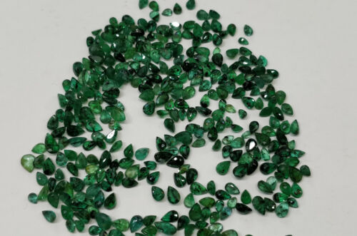 Natural Loose Emerald Pear Lot 4*2.5mm 1ct Lot Green Nontreated for Setting 10pc