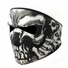 Skull Black 2 In 1 Reversible Neoprene Full Face Mask Motorcycle Biker Ski Fang