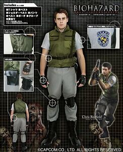 Details About Biohazard Resident Evil Chris Redfield Official Costume Set Cosplay Japan New