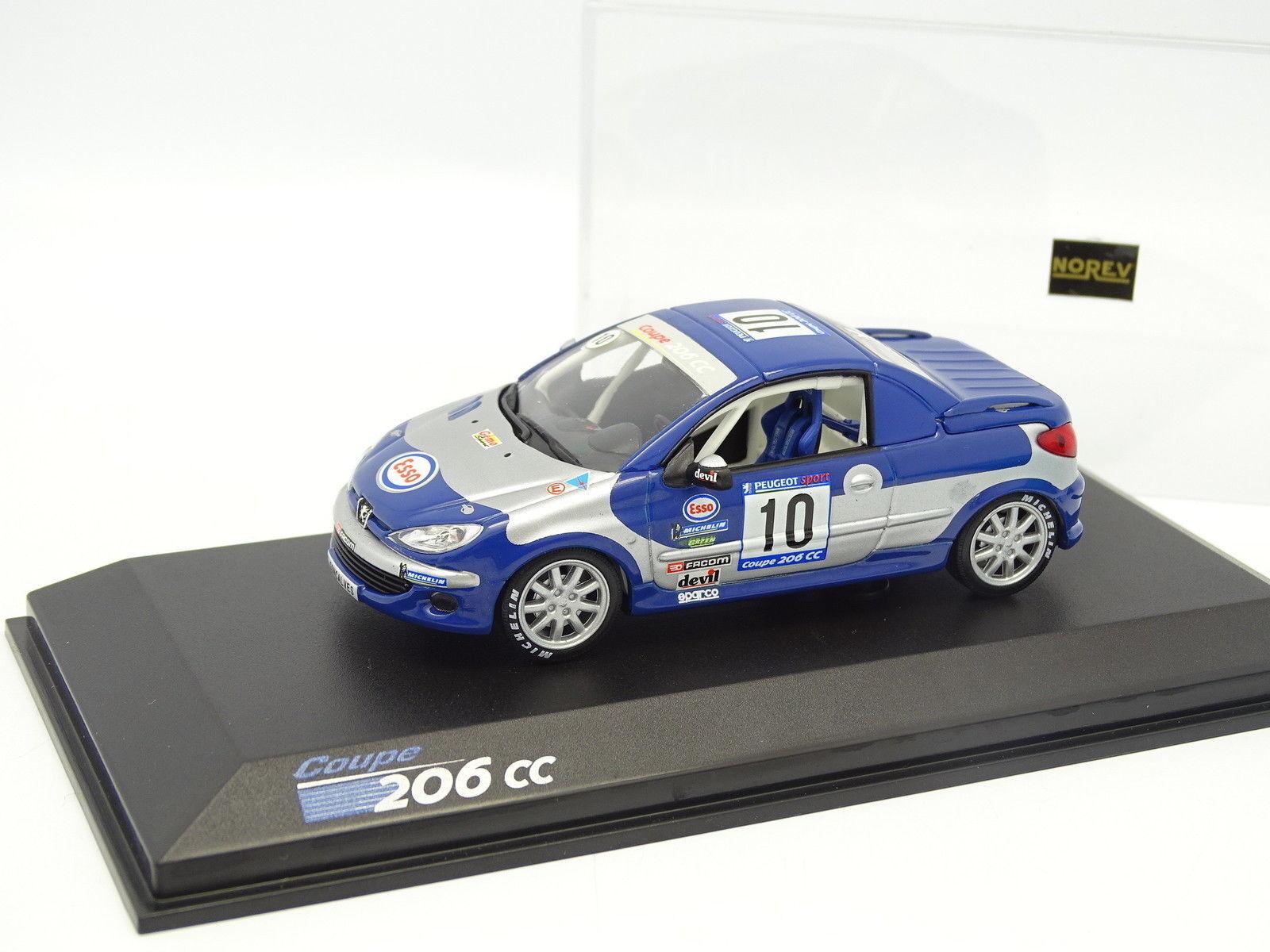 Norev CEC 1 43 - Peugeot 206 CC Cup N°10