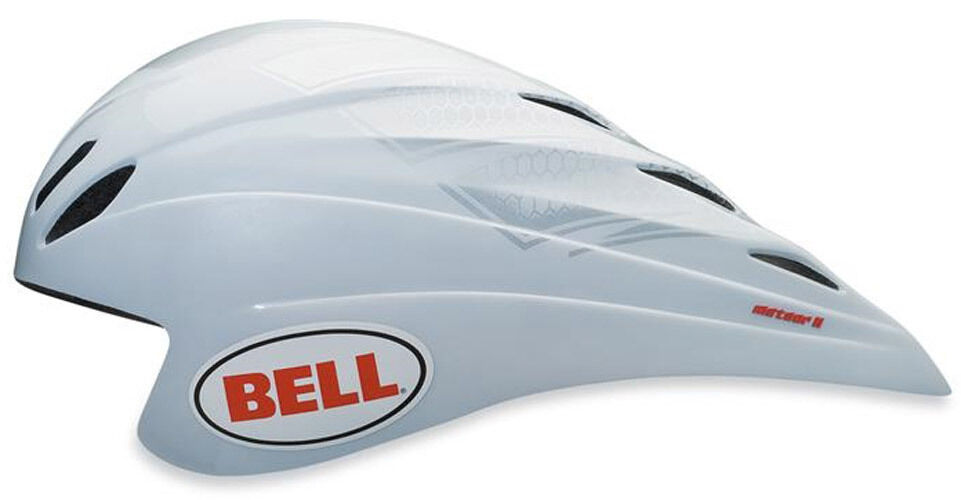 BELL METEOR II cronometro aero bici da corsa piccolo CASCO 5155 cm BIANCO 50% DI SCONTO