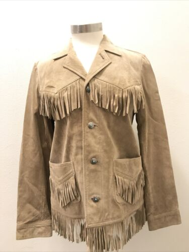 Ralph Lauren Women's Suede Leather Fringe Jacket S