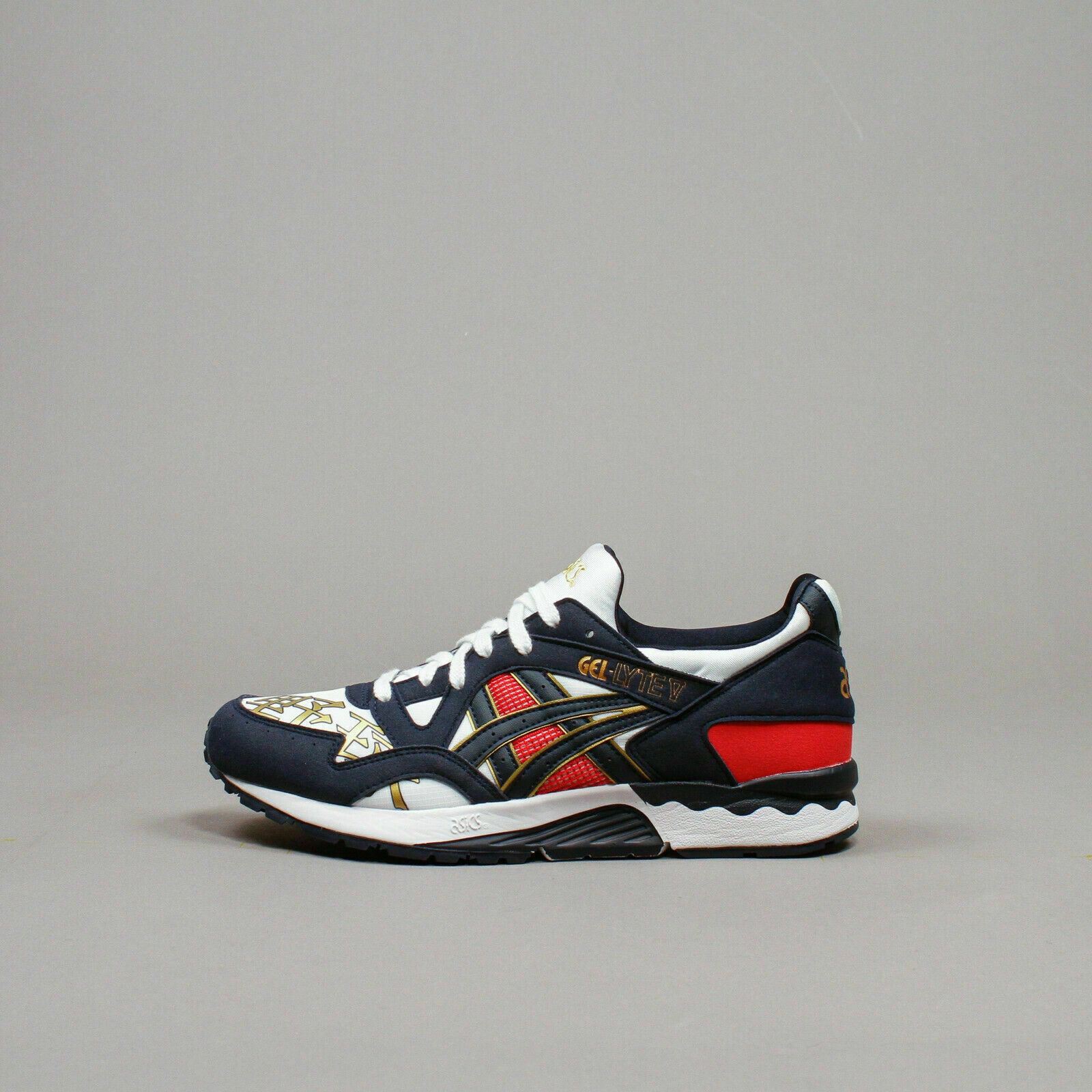 carga tijeras Confirmación  ASICS Tiger Gel-lyte V - Men's off White/fiery Red 13 for sale online | eBay