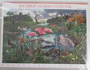 USPS MNH Sheet of 10 Southern Florida Wetland 39c Stamps