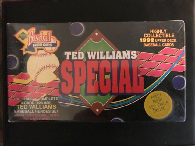 Upper Deck Baseball Heroes Ted Williams Special Sealed Box 1992