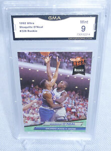 1992 Fleer Ultra Shaquille O'neal Rookie Card #328 GMA Graded Mint 9 MAGIC