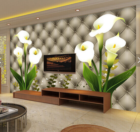 3D Weiß Calla Lily Flower 9 Paper Wall Print Wall Decal Wall Deco Indoor Murals