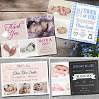 Personalised Photo NEW BABY Boy / Girl Birth Announcement / Thank You Cards NA03
