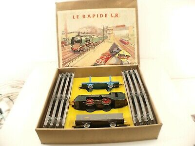 Brioso Lr Le Rapide O Coffret 106 Train Locomotive Mécanique Wagons Sncf Rails En Boite Garantire Un Aspetto Simile Al Nuovo In Modo Indefinibile