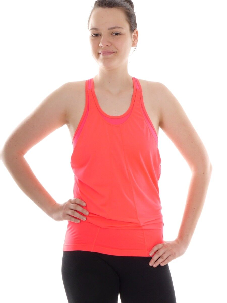 Lolë Dress Shirt Tank Top Sports Top Pink Neon Polina Breathable