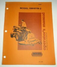 Woods Rm48ym 2 Rotary Cutter Mower Operators Owners Parts Manual Oem 686