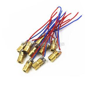 650nm 6mm 3V 5mW Laser Dot Diode Module Red Copper Head Mini Laser Pointer