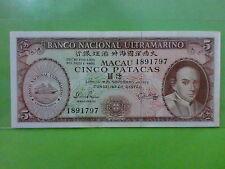 Macau Macao $5 Patacas 18-11-1976 (UNC)