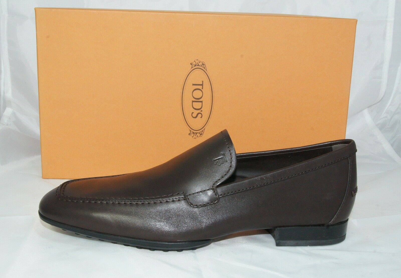 Tod ´S Loafers Sz. 40 6 Slip on shoes shoes Dark Brown New Previously