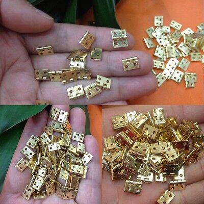 20pcs Mini Brass Plated Hinge Small Decorative Jewelry Cigar Box Hinges NE