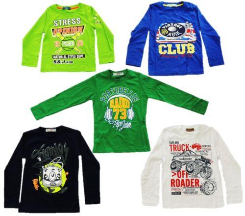 3 5 7 10er Pack Jungen Langarmshirt Longsleeve Shirt 98 104 110 116 122 128 140