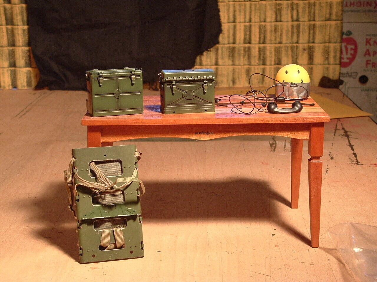 Escala 1 6 Dragón, BBI Segunda Guerra Mundial nos SCR-300 radio y accesorios  Sparky  Parsons