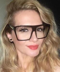 c99dda6ad50 BIG Extra Large Huge Flat Clear Lens Fashion Blogger Eye Glasses ...