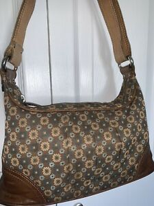 Lovely-Orla-Kiely-Handbag-Shoulder-Bag-In-Good-Used-Cond-Leather-Mix
