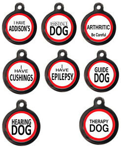 Assistance-therapy-Addisons-Epilepsy-Warning-Dog-Cat-I-D-Tag-FREE-ENGRAVING