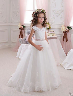Communion Party Prom Princess Pageant Bridesmaid Wedding Flower Girl Dress AA