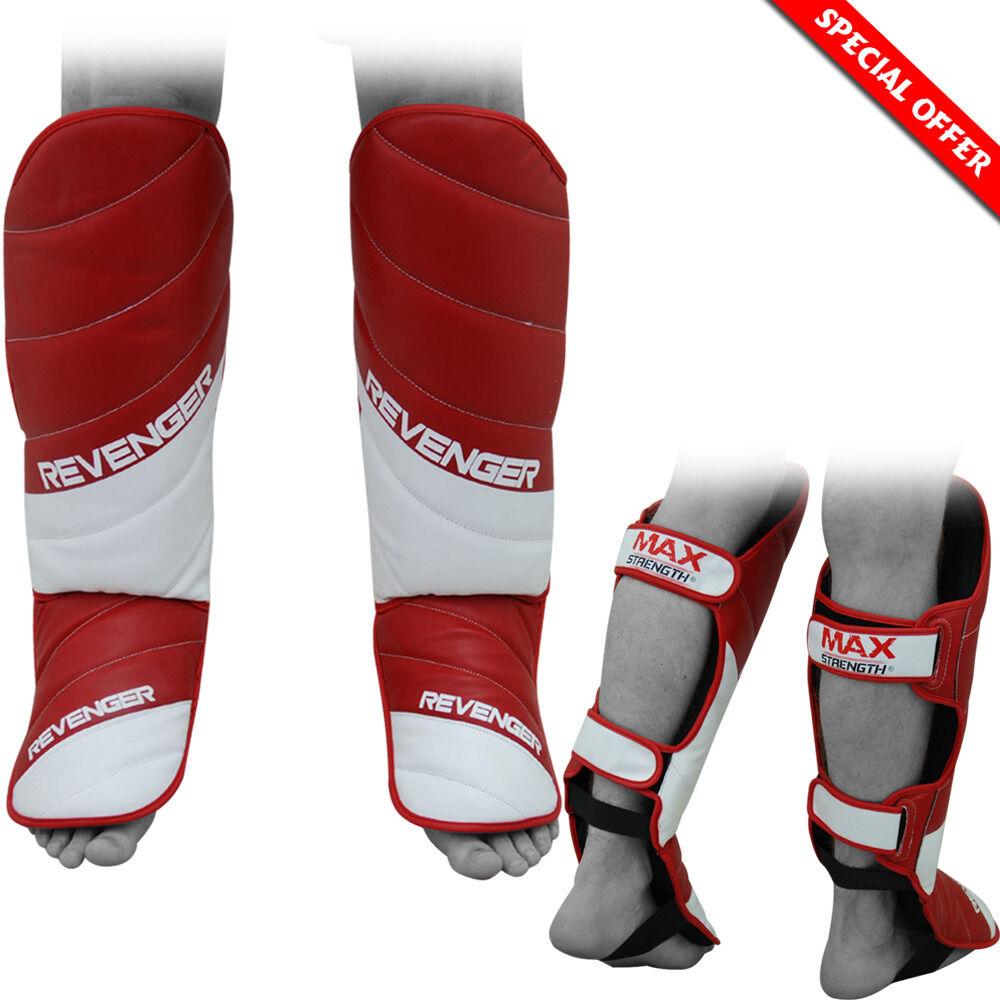SHIN INSTEP Pad MMA Gamba Piede Guardie Muay THAI KARATE KARATE KARATE KICK scatolaING Guard Prossoector 64b