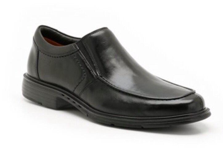 Scarpe casual da uomo  IN SCATOLA Unstructured Clarks Taglia 6.5 Unstructured SCATOLA Scarpe Formali Sorvegliato Un (40EU) nero Pelle 986718