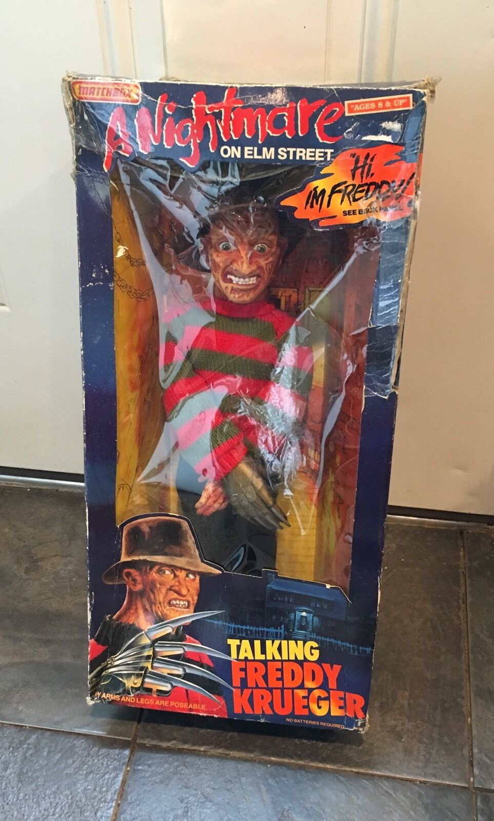 Vtg FrotDY KRUEGER talking doll IN BOX Nightmare Elm Street Figurine Doll