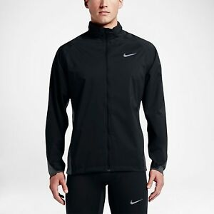 fac03659246e Nike Shield Men s Running Jacket Zoned Weather Resistant Hoodie ...