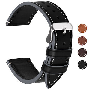Genuine-Leather-Wrist-watch-Band-Watch-Strap-Replacement-18-20-22-24mm-Vintage