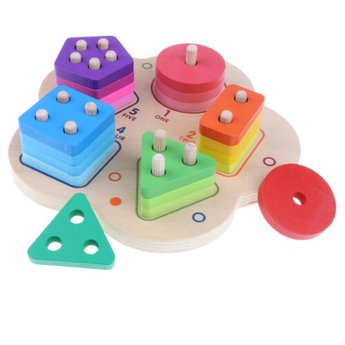 Wooden Geometry Educational Stacking Sorting Puzzle Giocattoli evolutivi per