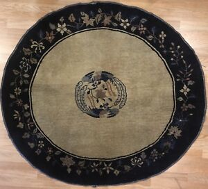 Fabulous Fette 1920s Art Deco Rug Chinese Oval Carpet