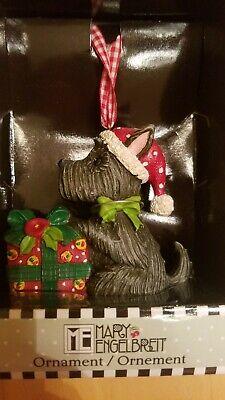 Henry Scottie Dog Glass Christmas Tree Ornament By ME Mary Engelbreit