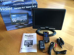 "HAIER HLT10 10.2"" LCD TV WITH ALL ORIGINAL ACCESSORIES, REMOTE, AC ADAPTER, ETC."