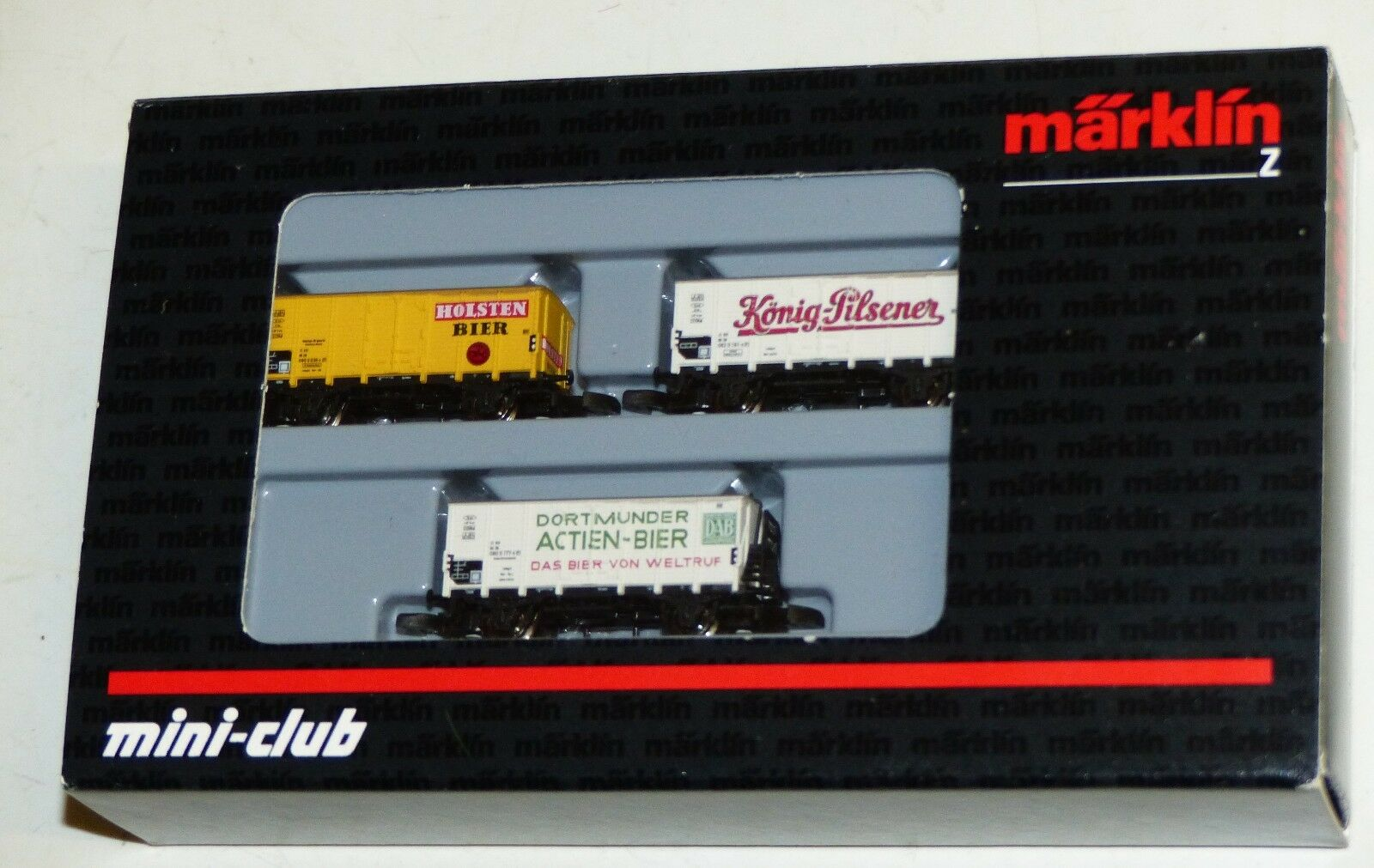 Märklin Mini Club 86394 CARRI BIRRA SET AUTO 3 Pezzi OVP Top Condizione Traccia Z
