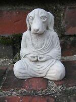 Buddha Dog, Concrete Figure, Meditating Dog Statues, Small Concrete Dog Statue,