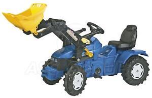 Rolly Toys - Tracteur à pédale New Holland Td 5050 avec chargeur Trac 3-8 4006485046713