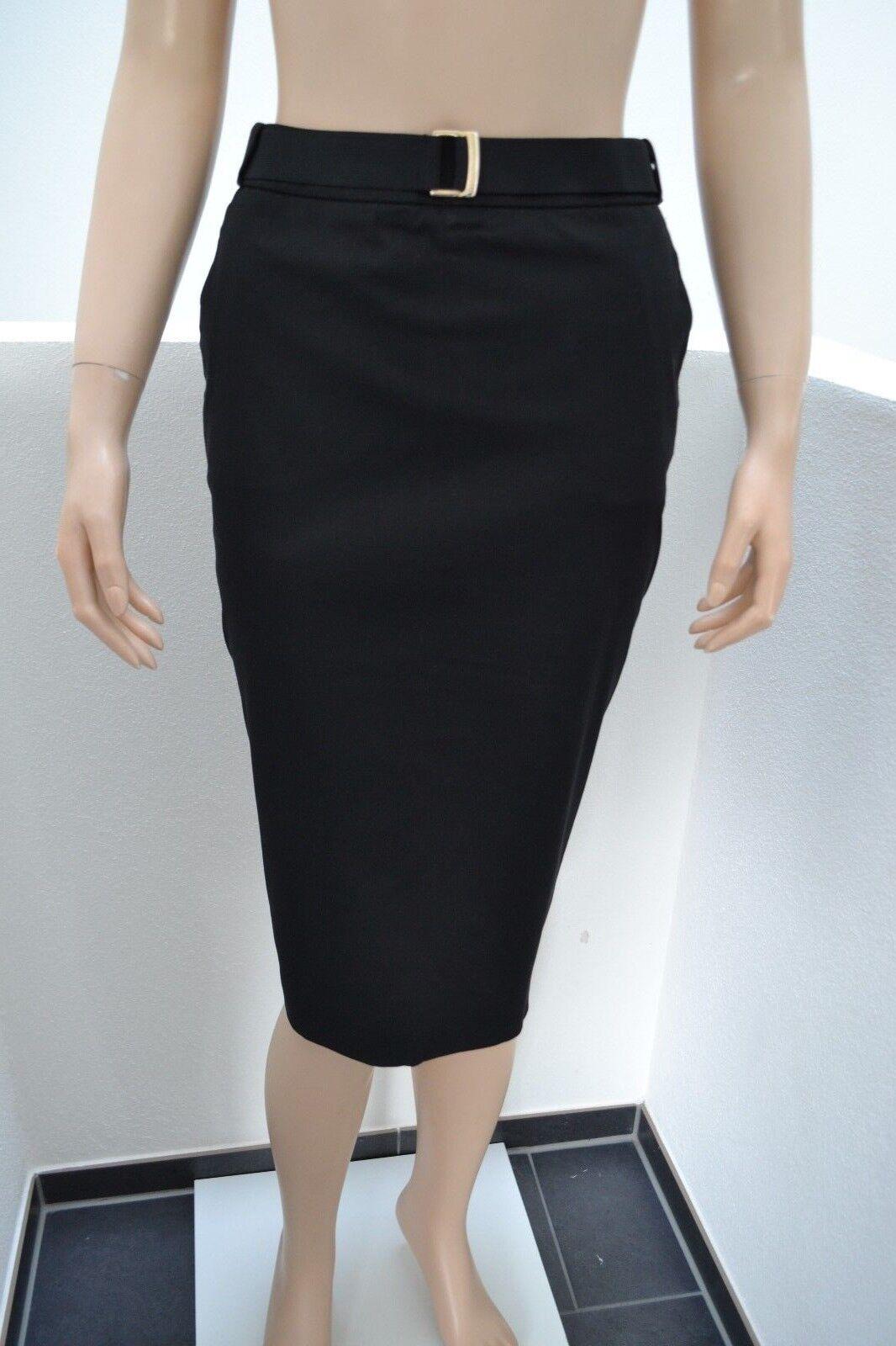 Wolford Midi Rock Skirt Bleistift 34 schwarz schwarz