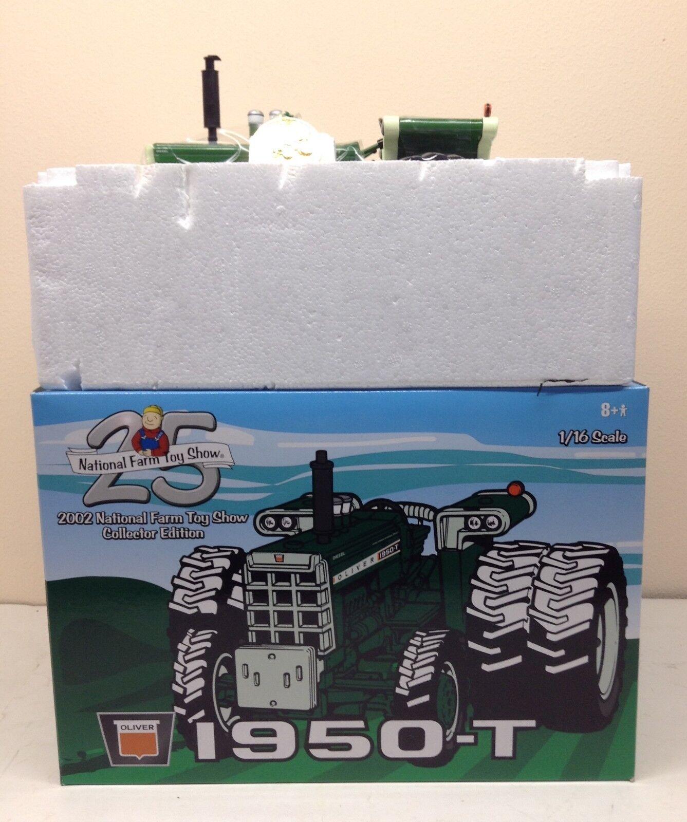 mejor calidad 1 1 1 16 Oliver 1950-T mfwd Tractor Agricultor Granja Nacional De Juguete 2002 Juguete mostrar Nuevas Ertl  buena calidad