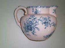 Antique Pink Porcelain milk Pitcher c1804 Green Transferware mrk Dec.804 11 R 5