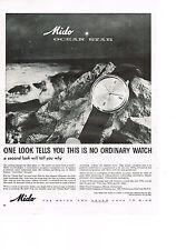 PUBLICITE ADVERTISING    1959   USA  MIDO  collection montre  OCEAN STAR