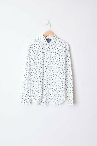 NEW-BONOBOS-Men-039-s-WINDSWEPT-FLORAL-White-BUTTON-FRONT-SHIRT-S