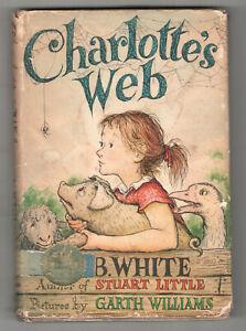1952-CHARLOTTE-039-S-WEB-E-B-White-GARTH-WILLIAMS-Early-Edition-DJ-Dust-Jacket