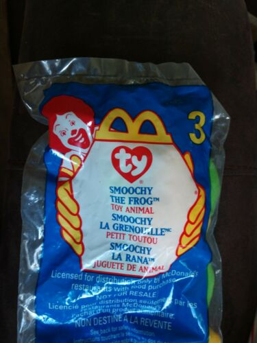 McDonald/'s 1999 Smoochy The Frog #3 TY Teenie Beanie Babies