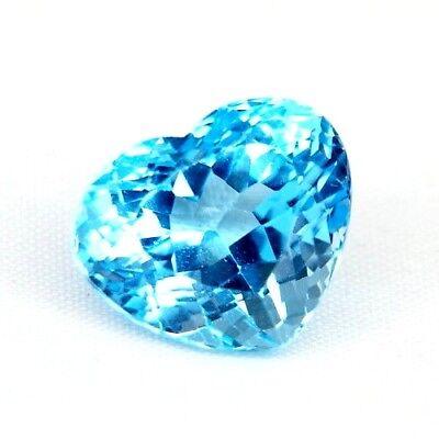 Top Heart Topaz : 15,81 Ct Natürlicher Blau Topas Herz Aus Brasilien