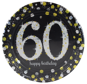Image is loading Amscan-Round-Paper-Plates-Sparkling-Celebration-60  sc 1 st  eBay & Amscan Round Paper Plates Sparkling Celebration 60 13051589448 | eBay