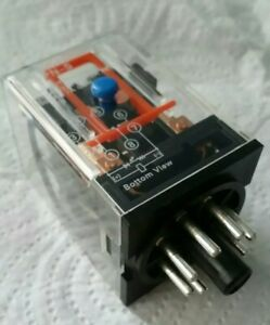 12 volt 12V DC Relay 2 pole Omron 8 pin see description base changeover New
