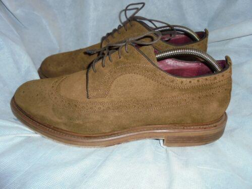 Vgc Uk Lace Up Shoes Size Leather 44 10 Brogues Men Eu Suede Brown Poste xwqgzOB